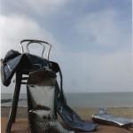 Cowboy laarzen en broek van RVS
